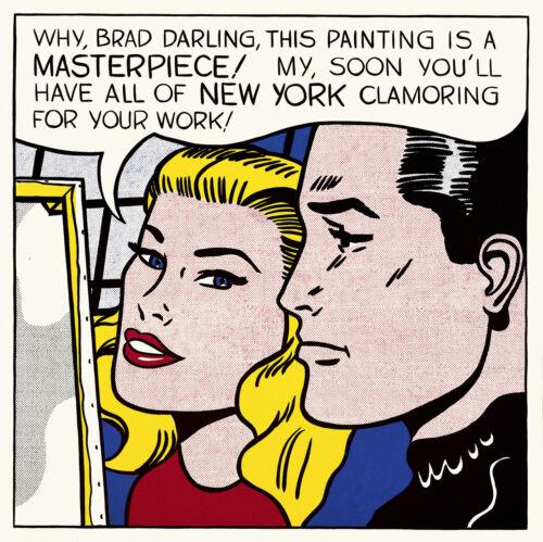 Roy Lichtenstein  Large Canvas 24/' vintage art painting print