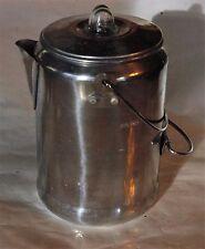 Vintage Coleman Coffee Pot  Nine Cup Aluminum 2000016428 EUC