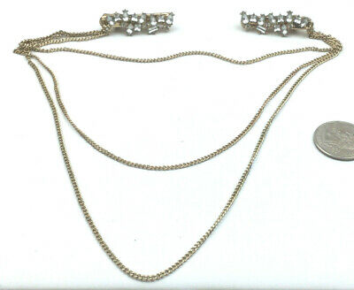 Gold Sweater Guard with Large Linked Chain