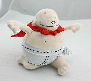 Captain Underpants 8 inch Soft Plush Toy Stuffed Figure Doll USA
