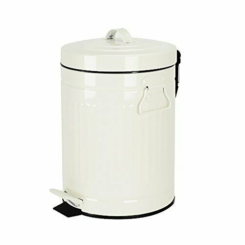 Bathroom Trash Can With Lid Small White Wastebasket For Home Bedroom 5 Liter 1g For Sale Online Ebay