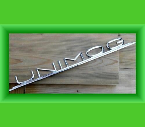 Letras cheers Unimog capó 403 421 406 logotipo capó emblema cromo metal o20