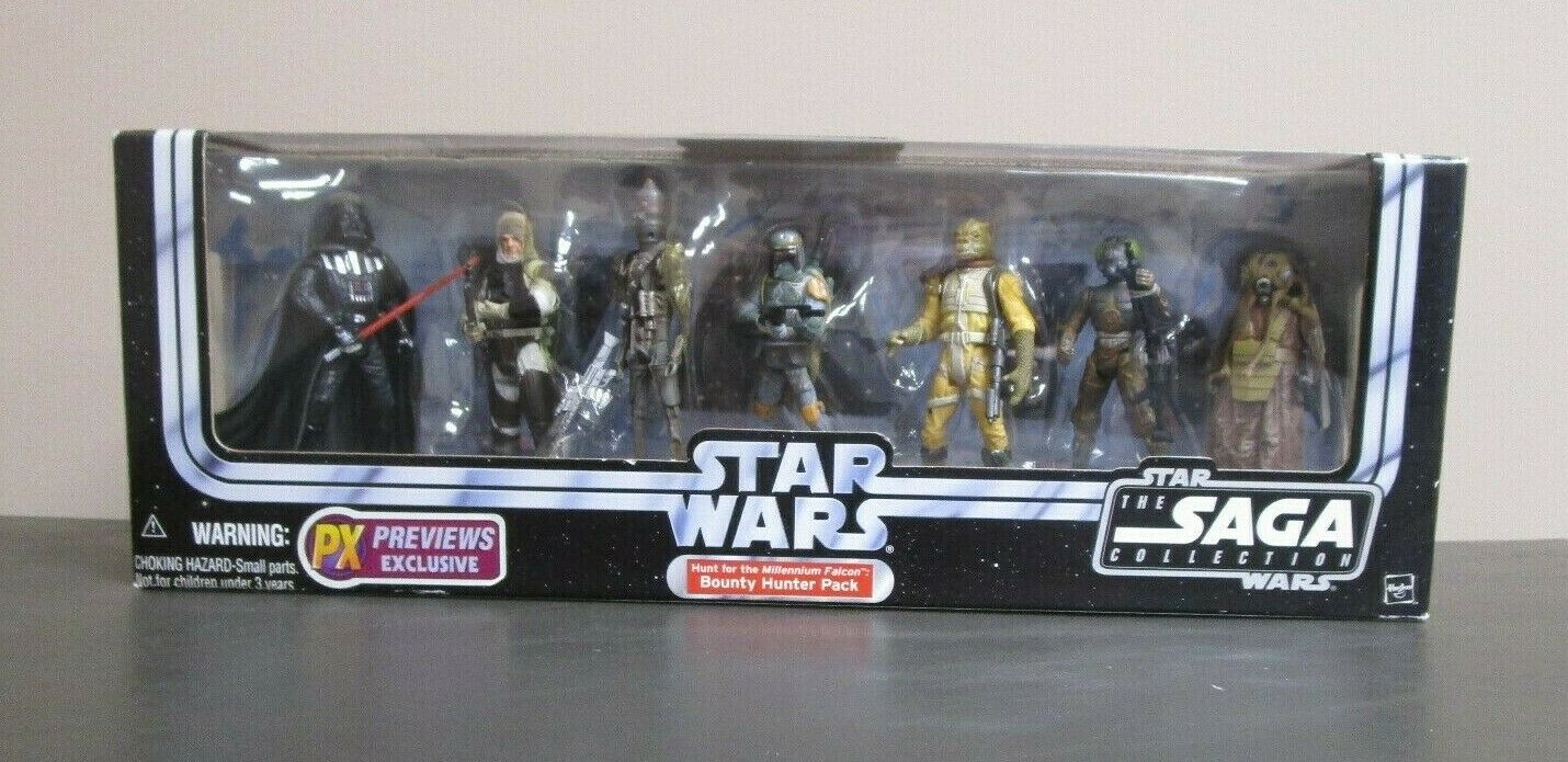 Jagare av Bounty Pack Star Wars Saga Collection Battle Packs MIB Förhandsgranskningar Exklusivt