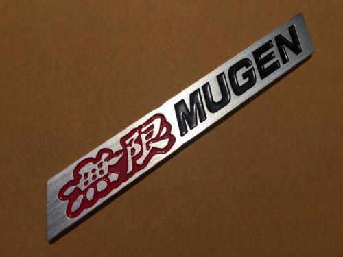 MUGEN Logo Aluminium Red Black Part Car Spoiler Badge Emblem ACURA CIVIC Sport 6