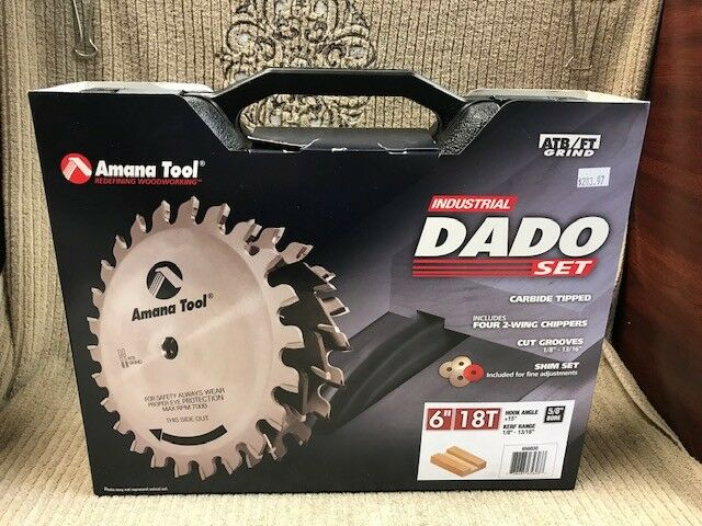 AMANA TOOL INDUSTRIAL DADO SET 6  18T NEW IN BOX Free Shipping