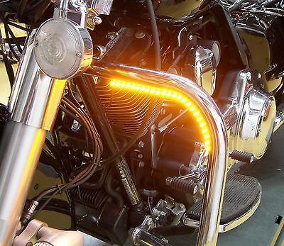 Motorcycle LED Daytime Running Light Kit - Amber