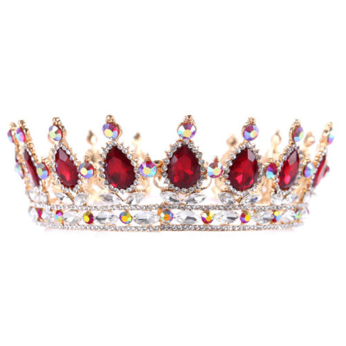 New European Luxury Drop Crystal Charming Bride Jewelry Headwear Diamond Crowns