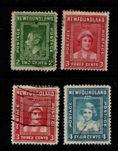 Canada Newfoundland 1938 1941 1c, 3c and 4c SG269, 277-79 Used