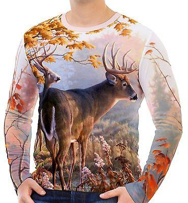 Deer Men's Long Sleeve T-Shirts S M L XL 2XL 3XL