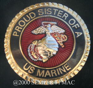 Proud Sister Of A Us Marine Pin Marines Brother Mom Dad Mcrd