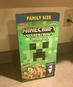 Minecraft Creeper Crunch Cereal Family Size Kellogs Ebay