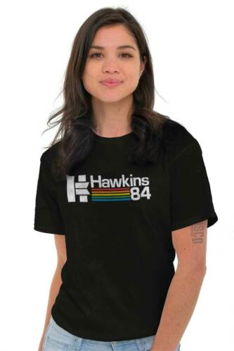 Hawkins Indiana Eleven TV Show Eighties Gift Short Sleeve T-Shirt Tees Tshirts