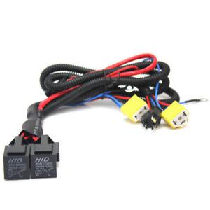 Headlight-H4-Headlamp-Light-Bulb-Ceramic-Socket-Plugs-Relay-Wiring-Harness-Kit