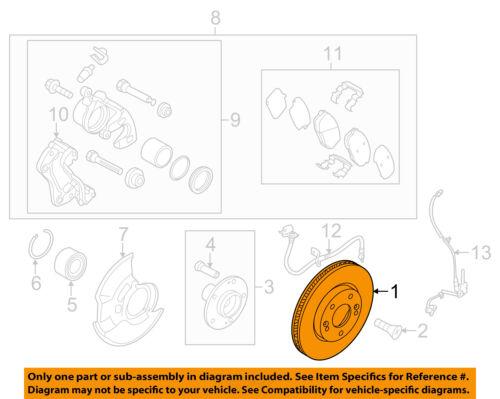 HYUNDAI OEM 11-15 Elantra Front Brake-Disc Rotor 517123X000