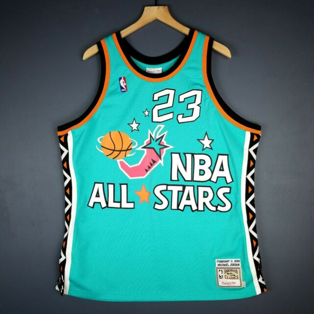 4e8b71ed2a4 100% Authentic Michael Jordan Mitchell Ness 1996 All Star Game Jersey Size  48 XL