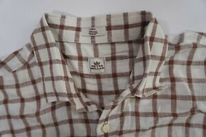 Peter-Millar-Men-039-s-LONG-LEEVE-100-Linen-Plaid-LS-Shirt-SIZE-LARGE