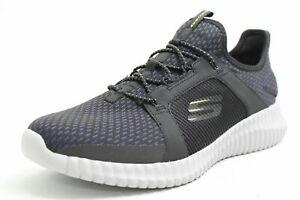 Skechers Chaussures Noir Mesh Air-cooled Memory Foam Respirant Hommes Sneaker-afficher Le Titre D'origine à Tout Prix