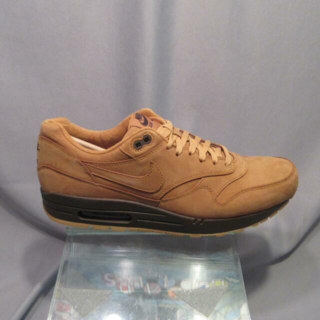 Nike Air Max 1 QS Flax Wheat Brown 2014 Sneakers Men's Size