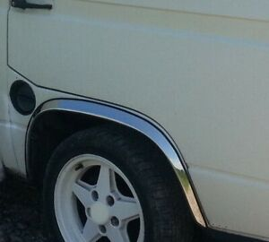 VW-T3-T25-Vanagon-Bus-Cromo-Rueda-arco-adornos-de-4-piezas-de-kit-de-ala-izquierda-derecha-039-79-92