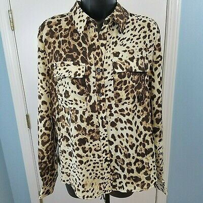 Lelis Womens Aminal PRNT Button Up Top