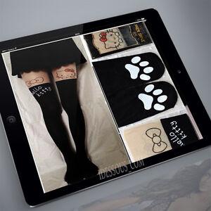 Sexy-Hello-Kitty-Cat-Strumpfhose-Blogger-Leggings-Tights-Leggins-Cosplay-Emo-NEU