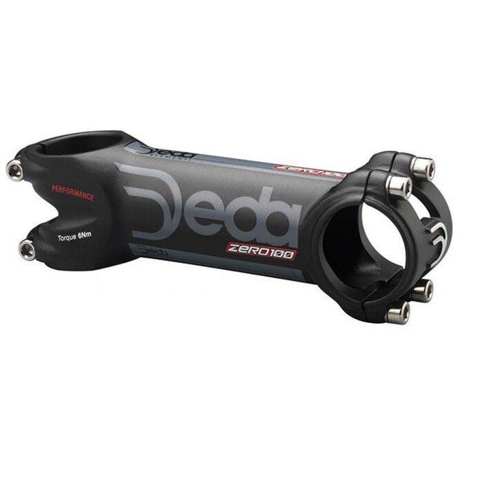 DEDA 100 prestazioni 31.8mm ZERO overDimensione GAMBO NERO SU NERO 130mm