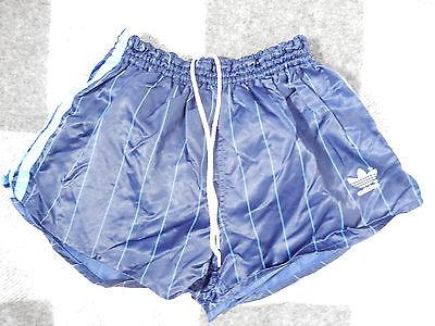 Adidas Shiny Shorts Taglia D 5 M Nylon Blu A Strisce Blue West Germany Top-mostra Il Titolo Originale