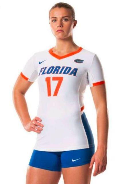 New Nike Women's M Florida Gators Hyperace Short Sleeve Volleyball Jersey #17