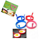 4Pcs Silicone Fried Fry Frier Oven Poacher Pancake Egg Poach Ring Mould Kitchen
