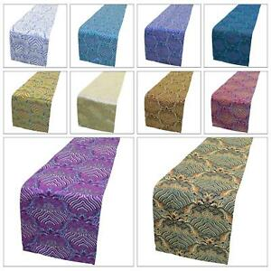 Table-Bed-Runner-Chinese-Rayon-Brocade-Dinning-Coffee-Cloth-Header-Cover-BL1