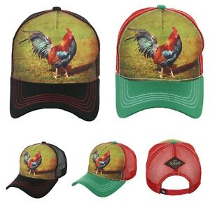 Baseball Cap Rooster Hat Plain Trucker Mesh Snapback Hats Gallo Caps ... 04cd4393a53