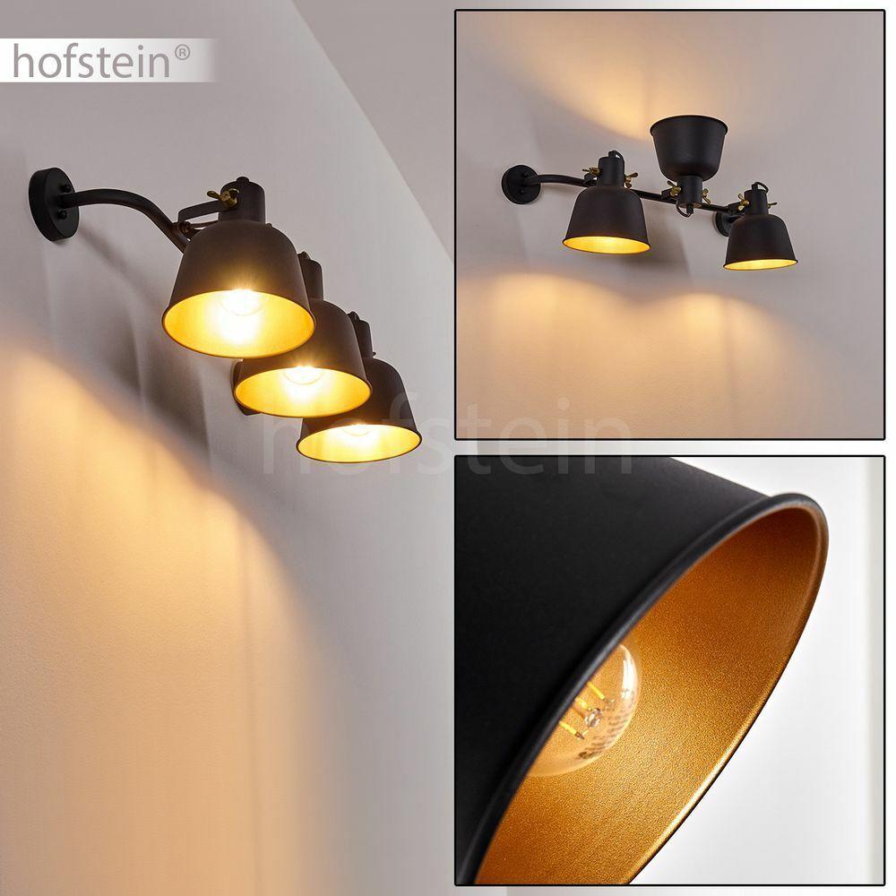 Flur Strahler Vintage Wand Lampen Wohn Schlaf Zimmer Raum Leuchten schwarz Gold