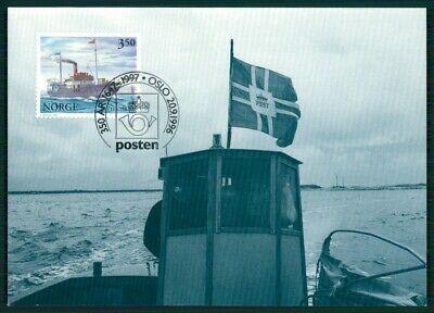 Norwegen Mk 1997 Post Postschiff Schiff Ship Maximumkarte Maxi Card Mc Cm En94 Bereitstellung Von Annehmlichkeiten FüR Die Menschen; Das Leben FüR Die BevöLkerung Einfacher Machen