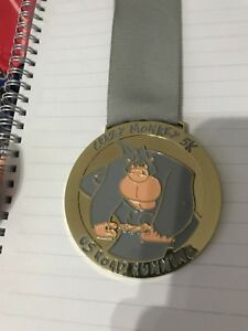 2019 DernièRe Conception Crazy Monkey Road Running 5k 10k 13.1 Marathon Finisseurs Médaille Bling Virtual Run-afficher Le Titre D'origine