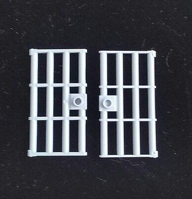 Door barred light gray Lego 2x Portebarreau prison gris clair 60621 1x4x6