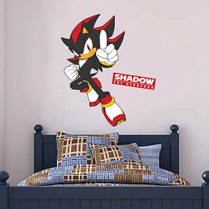 Sonic The Hedgehog Wall Decal Shadow Sticker Vinyl Mural Art Kids Bedroom Ebay