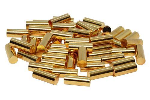 Humbucker Gold Plated 1215 Steel Pole Slugs w// Non-Chamfered End Qty 60