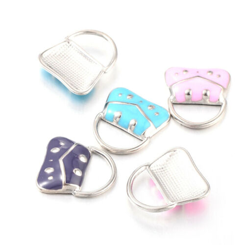 5PCS Mixed Enamel Handbag Alloy Charms Pendants For DIY Jewelry Making 19x17mm