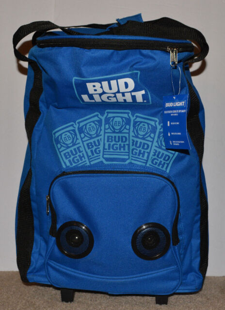 Bud Light Bluetooth Cooler Speaker With Wheels for sale online  4b26e9f5f1a40
