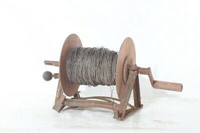 Alte Antike Haspel Handhaspel Metall Weidehaspel Weidezaunhaspel Weidezaun Ausgereifte Technologien