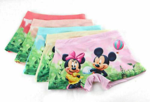 mickey minnie Children cartoon girl boy cotton underwear Boxer shorts 1Pcs New