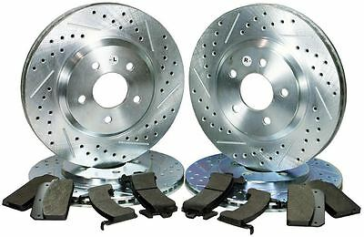 Ford Mustang Gt Premium Upgrade Performance Brake Kit Slotted Drilled Hawks Pad