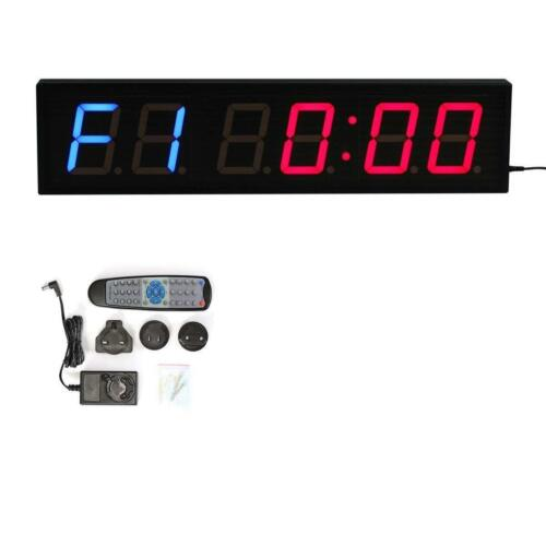 4 LED Interval Digital Wall Timer Countdown For Gym Training Fitness Crossfit