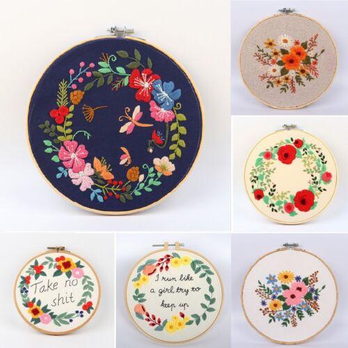 Flower Cross Stitch For Beginner DIY Needlework Kit Embroidery Starter Set