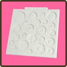 "4"" Silicone Design Mat Fondant Icing Cake Sugar Paste Craft Mould: Buttons"