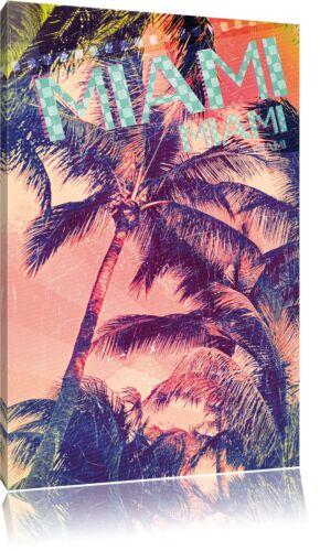Miami Leinwandbild Wanddeko Kunstdruck