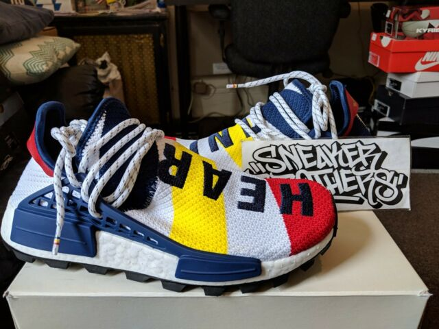 Adidas x BBC Billionaire Boys Club Hu NMD Human Race Trail White Red Navy BB9544