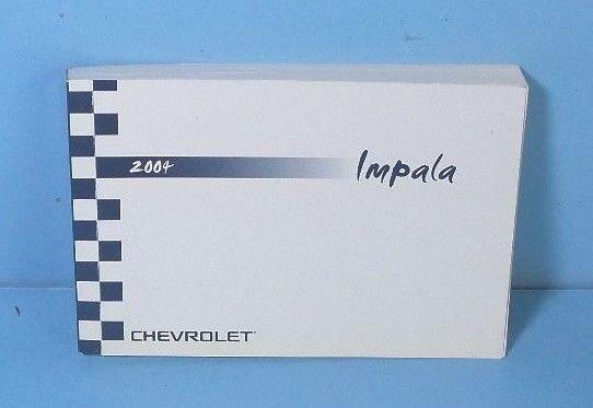 04 2004 chevrolet impala owners manual ebay rh ebay com 2010 Chevy Impala 2007 Chevy Impala