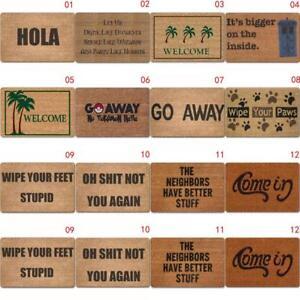 Letter Funny Welcome Home Entrance Floor Rug Non-slip Doormat Carpet Door Mat