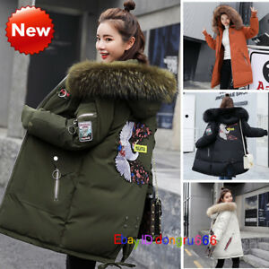 New-Ladies-Womens-Long-Winter-Coat-Padded-Jacket-Big-Fur-Hooded-Outwear